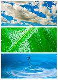 Milieu thema abstracte achtergrond Royalty-vrije Stock Afbeeldingen