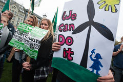 Milieuactivisten Stock Foto
