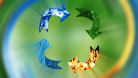 Milieubehoud, recyclingsconcept, lijn, voorraadlengte royalty-vrije illustratie