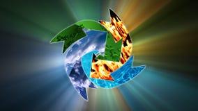 Milieubehoud, recyclingsconcept, voorraadlengte stock illustratie