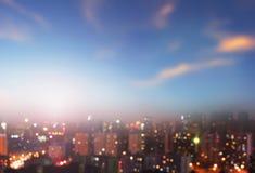 milieubescherming concept: grote steden met streng verontreinigde lucht stock foto