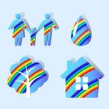 milieubescherming pictogrammen vector illustratie