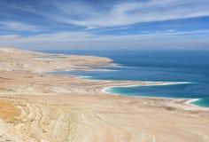 Milieucatastrofe op het Dode Overzees, Israël Stock Foto's