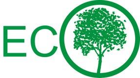 Milieuembleem - ECO Stock Afbeelding