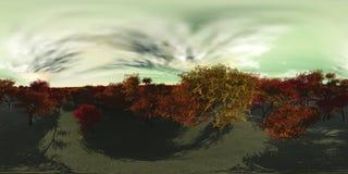 milieukaart HDRI-kaart Equirectangularprojectie Landschap royalty-vrije stock foto