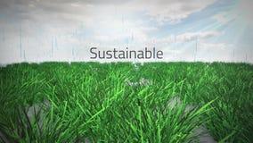 Milieumodewoorden met embleem royalty-vrije illustratie