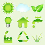 Milieupictogrammen Royalty-vrije Stock Foto