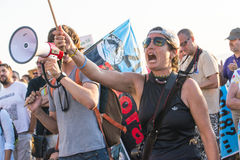 Milieuprotest stock afbeelding