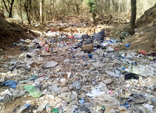 Milieuverontreiniging in stad Stock Afbeelding