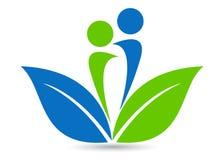 Milieuvriendelijk embleem Stock Foto