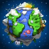 Milieuvriendelijke aardeplaneet Royalty-vrije Stock Foto's