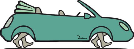 Milieuvriendelijke auto Royalty-vrije Stock Afbeelding