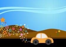 Milieuvriendelijke autorijden Stock Foto's