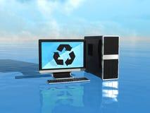 Milieuvriendelijke computers Stock Afbeeldingen