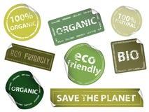 Milieuvriendelijke Etiketten Royalty-vrije Stock Fotografie