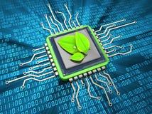 Milieuvriendelijke gegevensverwerking Stock Afbeeldingen