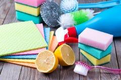 Milieuvriendelijke natuurlijke reinigingsmachines stock fotografie