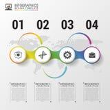 Milieux économiques infographic modernes Descripteur créateur de conception Illustration de vecteur illustration libre de droits