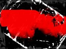 Milieux élégants dans le style grunge dans des couleurs noires et rouges photographie stock libre de droits