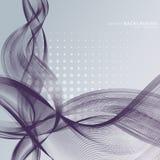Milieux abstraits avec les lignes onduleuses colorées Conception élégante de vague Technologie de vecteur Images stock