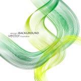 Milieux abstraits avec les lignes onduleuses colorées Conception élégante de vague Technologie de vecteur Photographie stock