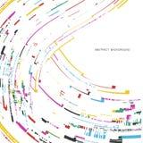 Milieux abstraits avec les lignes onduleuses colorées Conception élégante de vague Technologie de vecteur Images libres de droits
