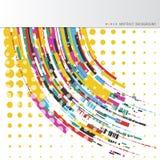 Milieux abstraits avec les lignes onduleuses colorées Conception élégante de vague Technologie de vecteur Photos stock