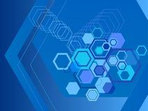 Milieux abstraits d'hexagone Images libres de droits