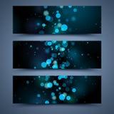 Milieux abstraits de bannières bleues Images libres de droits