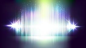 Milieux abstraits de vecteur de lumière clignotante Images stock