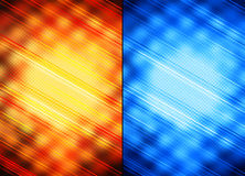 Milieux abstraits oranges et bleus Images stock