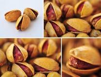 Milieux abstraits salés frais de pistaches réglés Photo libre de droits