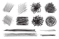 Milieux avec le choix de lignes Textures chaotiques complexes Contextes onduleux Modèles embrouillés tirés par la main Rebecca 36 illustration stock
