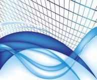 Milieux bleus abstraits impressionnants de vecteur Photos stock