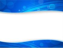 Milieux bleus abstraits pour l'en-tête et le titre de bas de page Images libres de droits