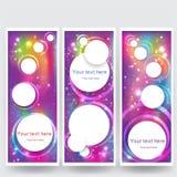 Milieux blured parespace abstrait de conception réglés Jaune rose pourpre, bleu illustration stock