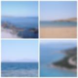 Milieux brouillés par vue de mer Images stock