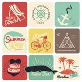 Milieux calligraphiques de conceptions d'été Image libre de droits
