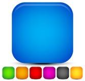 Milieux carrés arrondis lumineux et vifs 7 couleurs Illustration de Vecteur