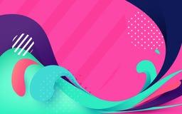 Milieux colorés abstraits de bannière Illustration de Vecteur