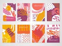 Milieux colorés abstraits réglés images stock
