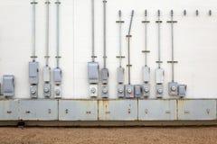 Milieux - compteurs d'électricité Photos stock