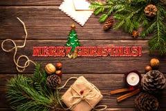 Milieux décoratifs pendant Noël et de nouvelles années de vacances photographie stock
