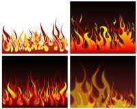 Milieux d'incendie réglés Images libres de droits