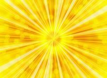 Milieux de bulles de rayons de soleil lumineux illustration de vecteur