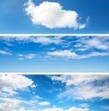 Milieux de ciel réglés Images stock