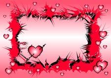 Milieux de coeur d'amour Image stock