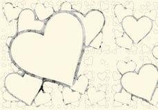 Milieux de coeurs de symbole d'amour Photo stock