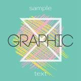 Milieux de conception graphique Carte universelle créative Photos stock