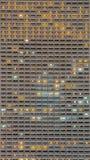 Milieux de l'appartement blanc de balcon à la nuit Images libres de droits